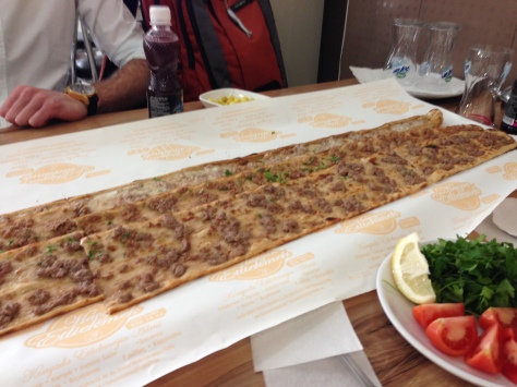 A foot long pizza? Yes please!