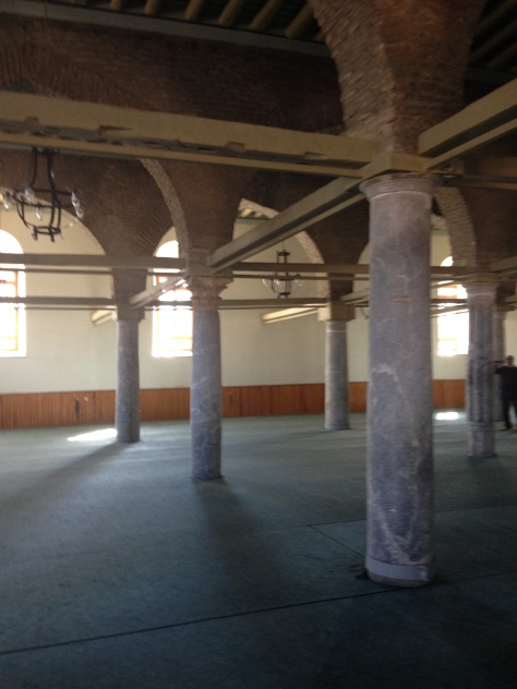 The mosque built in the 10th centure is still standing, with some help.