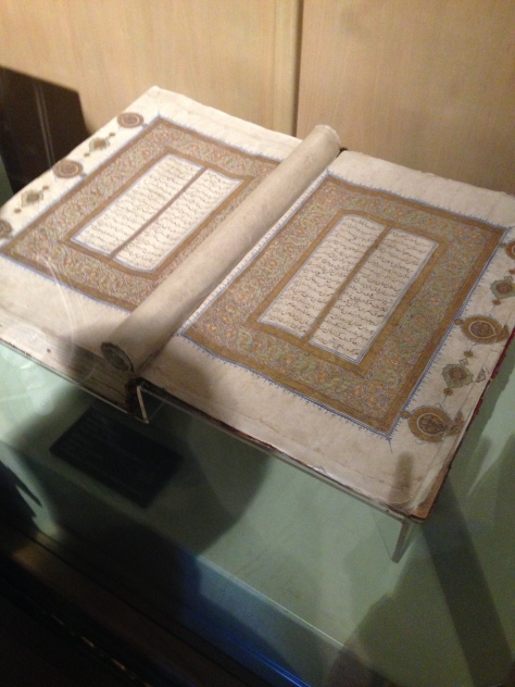 The Quran, in calligraphic style