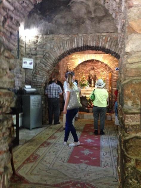 Inside the chapel of Meryemana