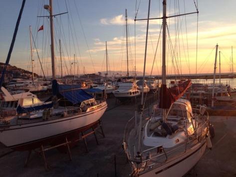 The marina at Kuşadası