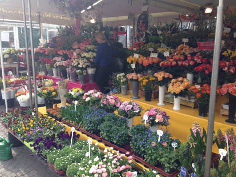 Local florist at the Viktualienmarkt