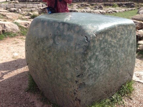 Nephrite boulder found in the Great Temple