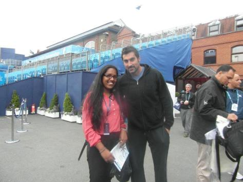 With the Serbian doubles player, Nenad Zimonjić. LOVE.