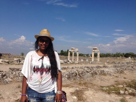 At the southern entrance of Hierapolis