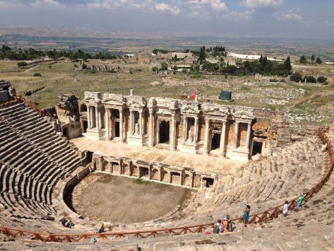 The Roman theatre, able to seat over 12,000 spectators.