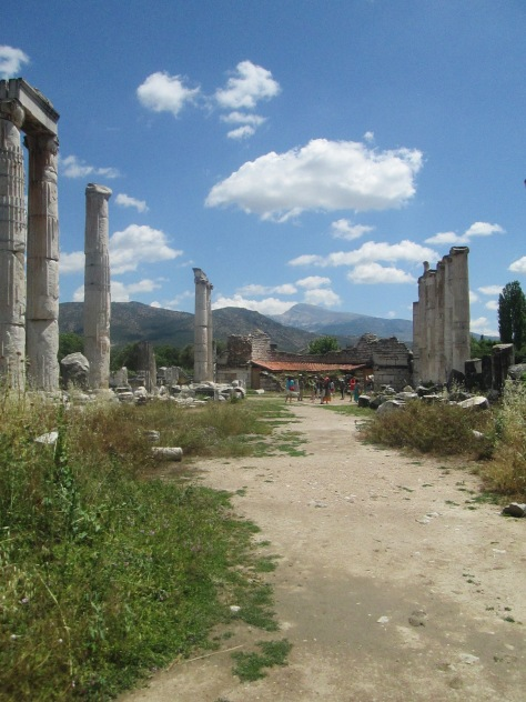 The Temple of Aphrodite, partly restored