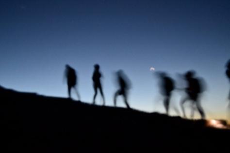 Climbing Mt. Nemrut  at 3 am. Photo: Laure