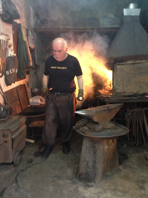 Blacksmith is all his splendour