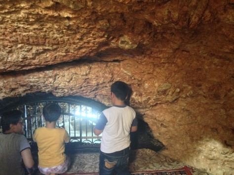 Inside the cave of Prophet Ayyub.