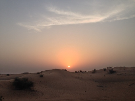 Desperately trying to capture than sunset in the desert. And failing.