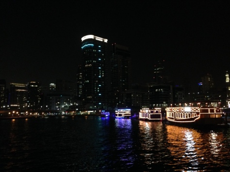 The Marina by night, all lit