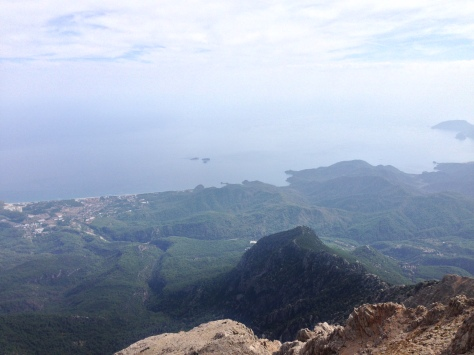 East Mediterranean coast from above