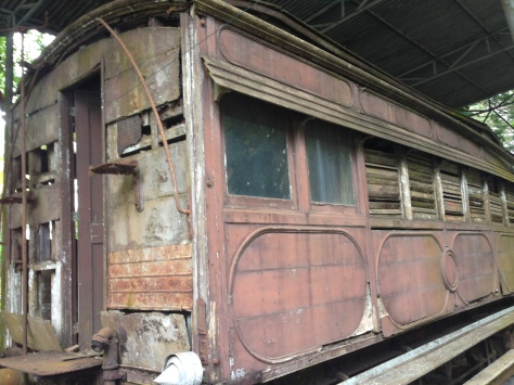 Old rusty train carriage