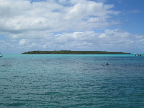 View of the island from the jetty