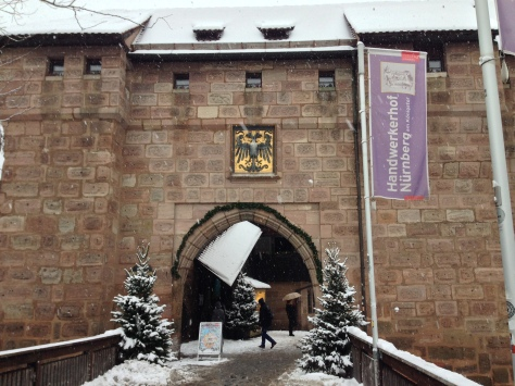 Entrance to the Courtyard.