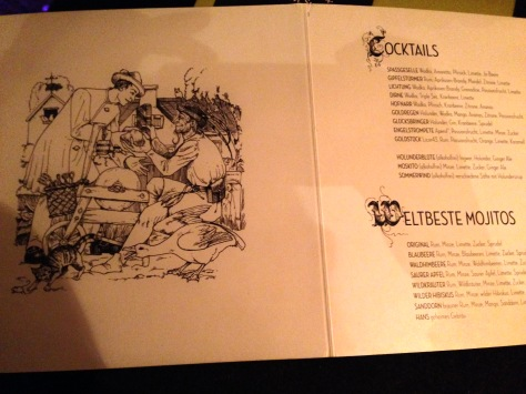 Fairy-tale inspired menu