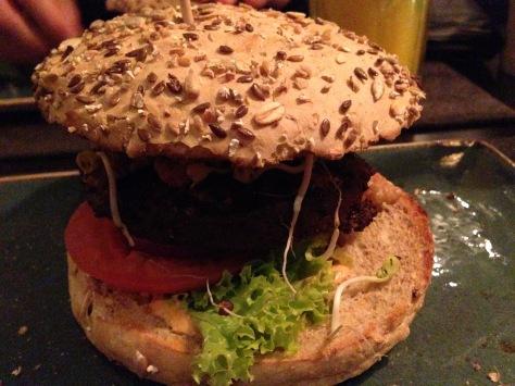 Nut-based burger
