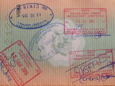 Scribbles on my passport.