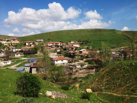 Small village hidden in the valleys