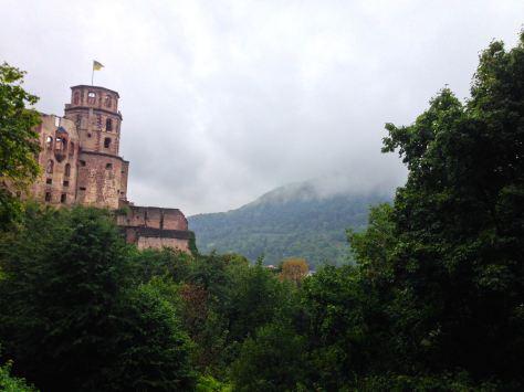 A slightly foggy Heidelberg Castle