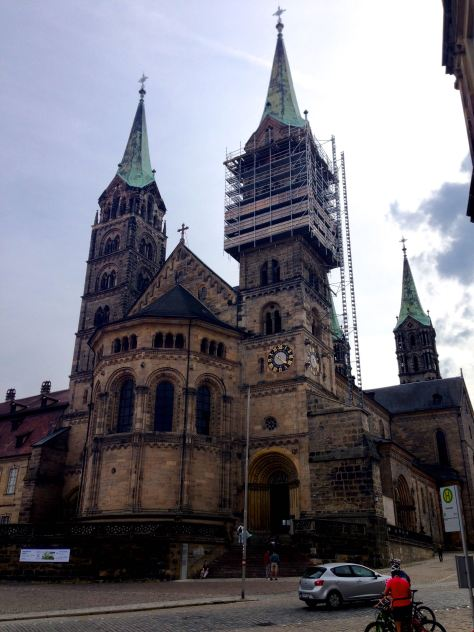 The Bamberg Cathedral, being restored to its glory
