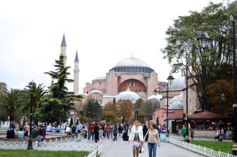 Waiting for the next tourist trap - at the Hagia Sophia