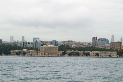 The Dolmabahce from far