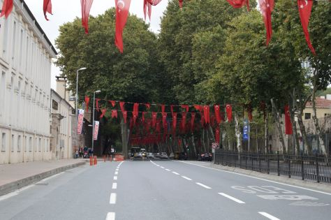 Streets adorned due to the upcoming elections